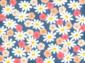 Daisies and Cherry Blossom