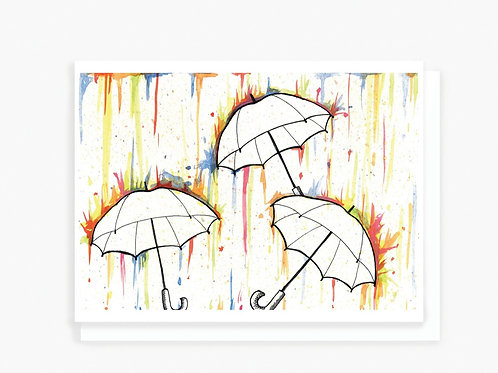 Rainy Day - Greeting Card