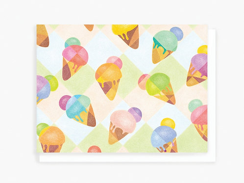 Ice Creams - Greeting Card