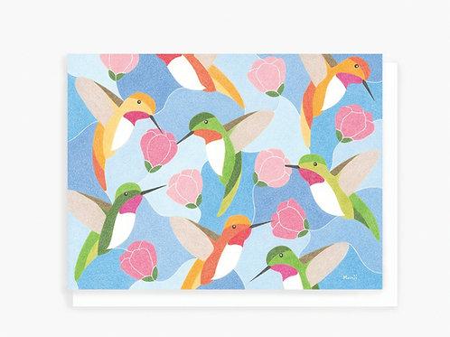 Hummingbirds - Greeting Card