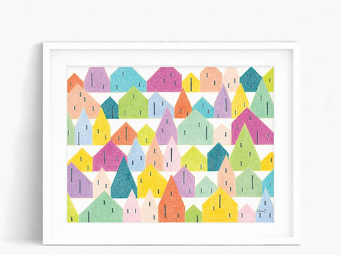SF Row Houses - Limited Edition Print