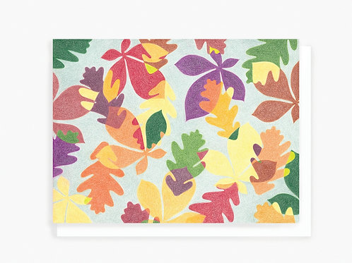 Autumn Leaves - Greeting Card