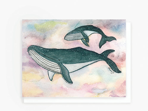 Humpback Whales - Greeting Card