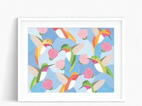 Hummingbirds - Limited Edition Print