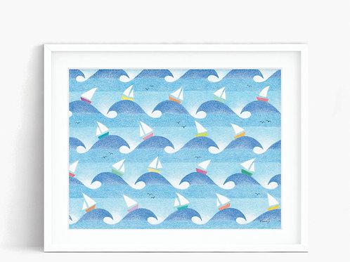 Sailboats - Limited Edition Print