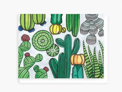 Cactus Garden - Greeting Card