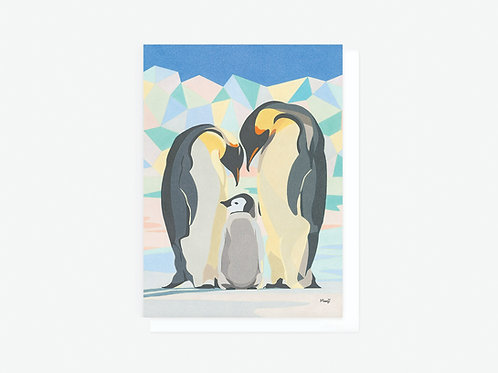 Emperor Penguins - Greeting Card
