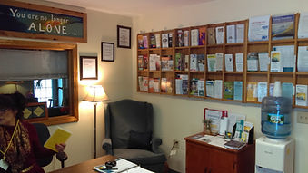 The front office of North Central Vermont Recovery Center