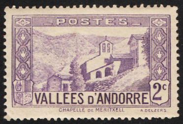 Andorra-1932-39-French-Scott-24-2c-viole