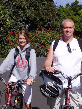 Cycling Down Haleakala
