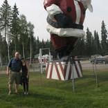Giant Fiberglass Santa - North Pole, Alaska