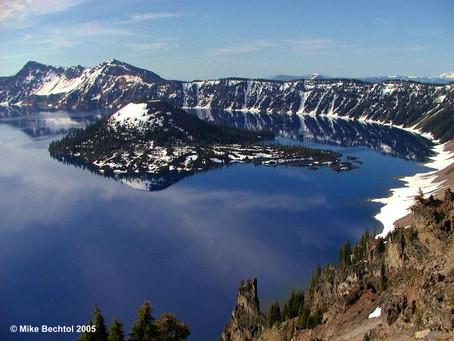"Crater Lake, Oregon - When Mt. Mazama went ""BLAMMO""!"
