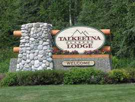 Talkeetna Alaskan Lodge Entrance