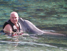 Mike With Lono the Dolphin