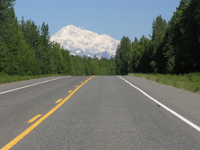 Driving North on Parks Highway