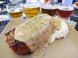 Reindeer Meat Loaf at Denali Brewing Company