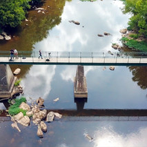 wil Indy Emily on bridge from drone.jpg