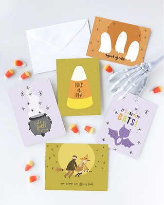Halloween Howl Card Set of 5