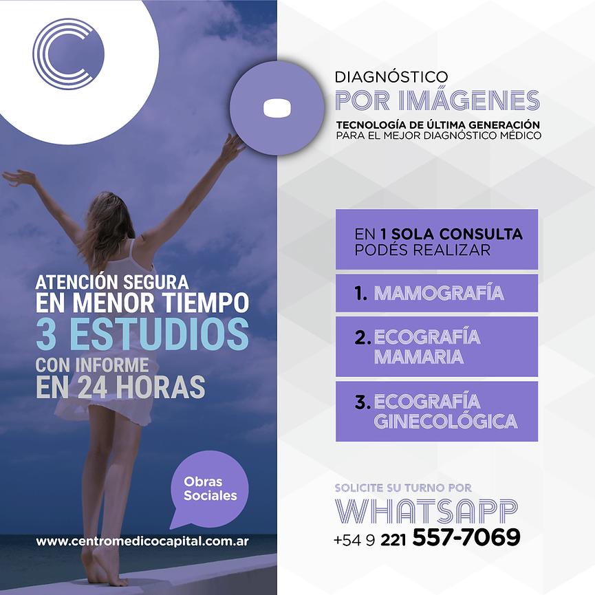Mamografía, Ecografía Mamaria y Ecografía en el Centro Médico Capital La Plata