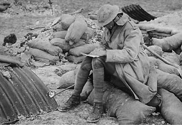 Soldier writing letter WW1 .png