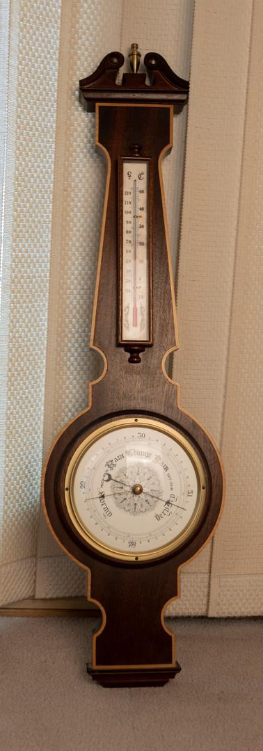 Wide Shot of Rustic Clock