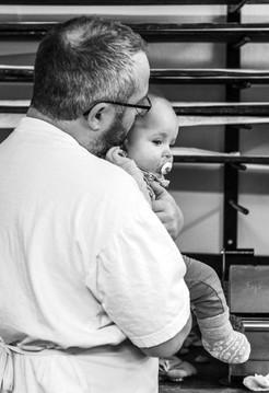 Willi Baumann junior mit Sohn Hanno