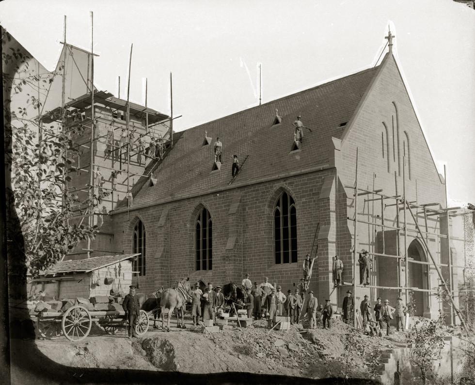 Bau der Kirche St. Martin der Pfarrgemeinde Mudau-Steinbach