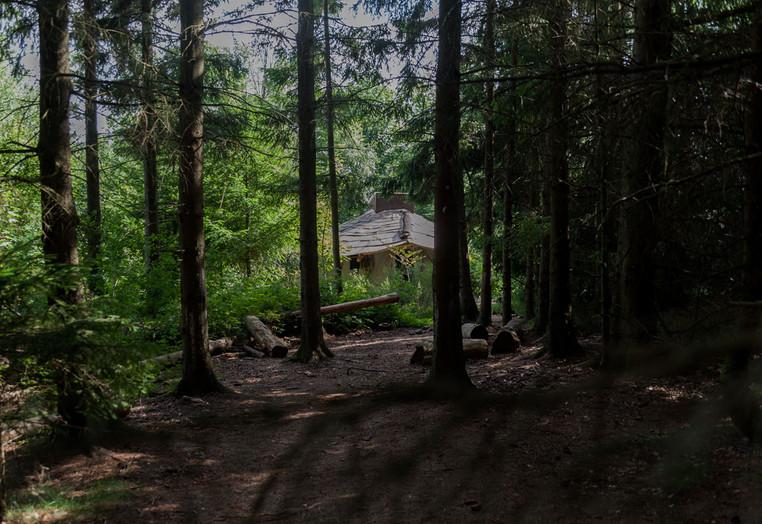 Selbsterrichtete Jurtenhütte