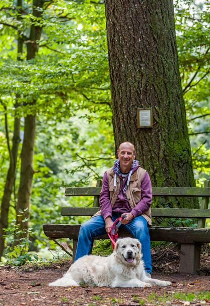 Markus Schmitt mit Hund Jimmy