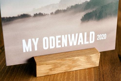 MY ODENWALD Maxi-Postkarten Odenwald-Kalender mit Holz-Kartenhalter