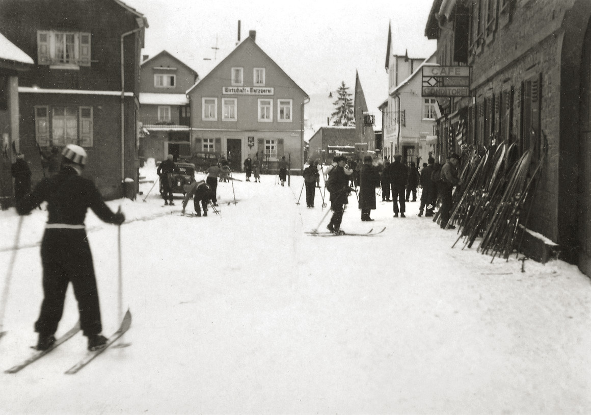 Skifahrer Wald-Michelbach, ca. 1930