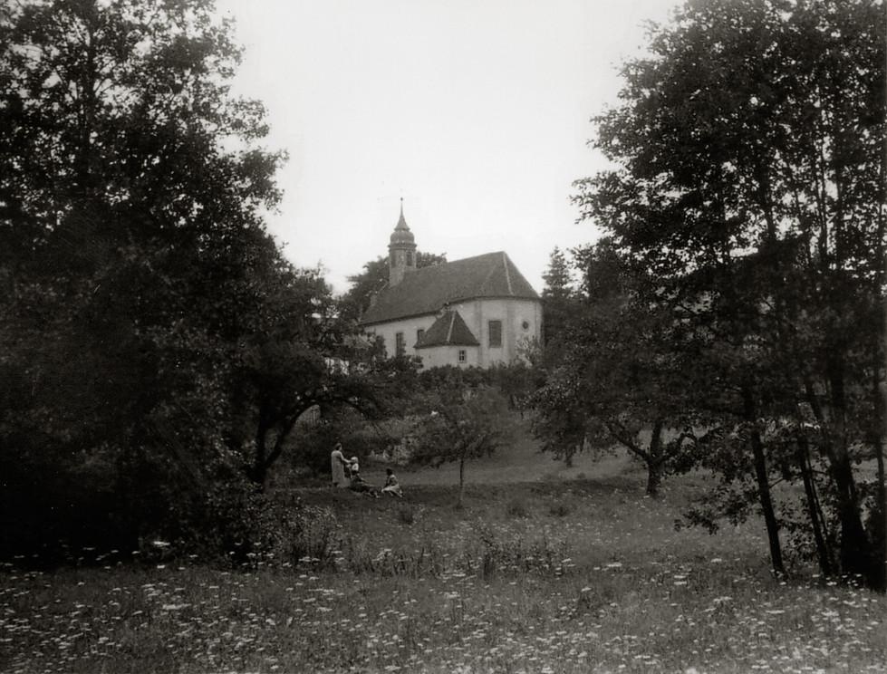 Kirche in Hollerbach bei Buchen im Odenwald, 1942