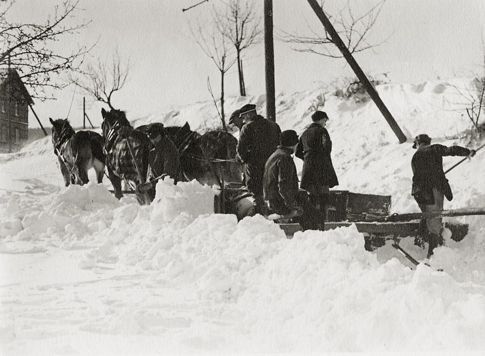 Schneepflug Siedelsbrunn, Winter 1942/1943