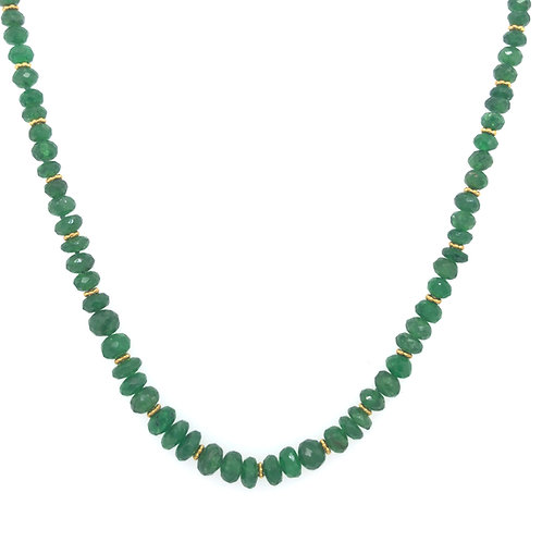 Tsavorite Gemstone Bead Necklace