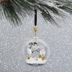 132404 - Reindeer Snow Globe Ornament 2.