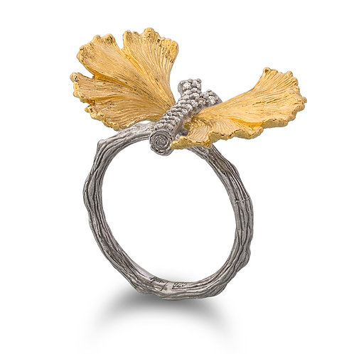 Michael Aram Butterfly Ginkgo Ring