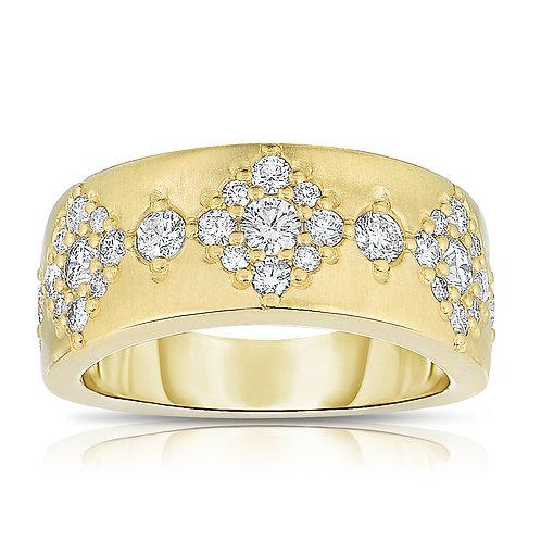 Diamond Starburst Band Ring