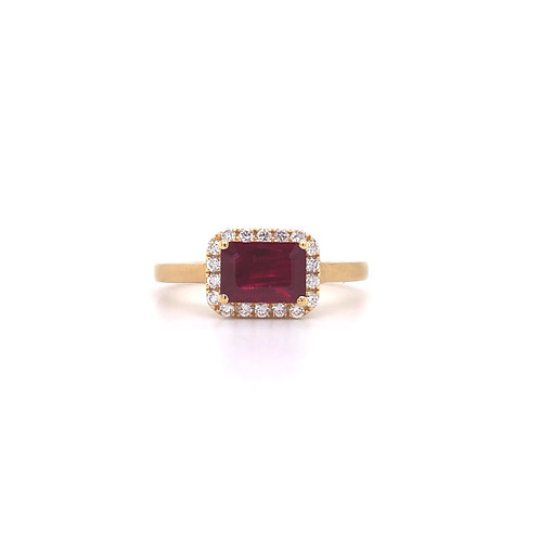 Kimberly Collins Ruby and Diamond Ring
