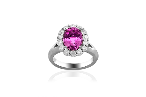 Precious Topaz and Diamond Ring