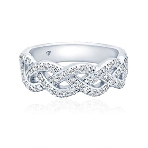 Diamond & White Gold Band