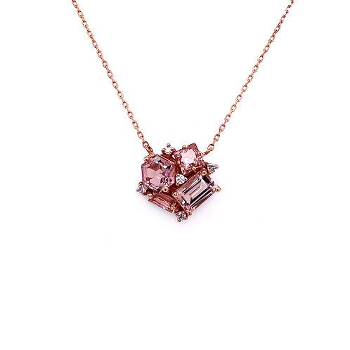 Suzanne Kalan Pink Topaz Necklace