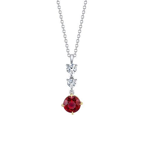 Ruby and Diamond Pendant