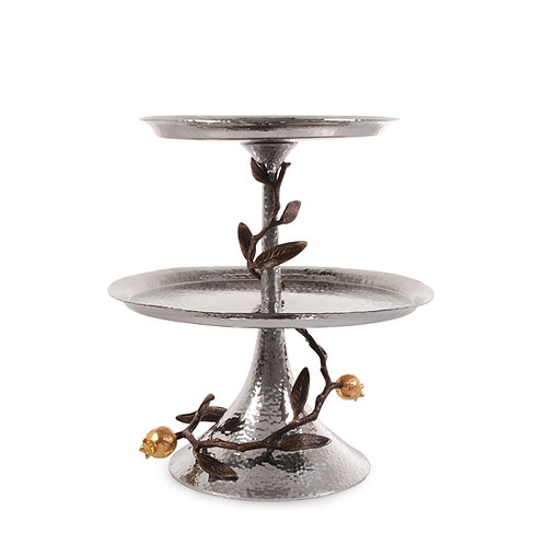 Michael Aram Butterfly Pomegranate 2-Tier Etagere