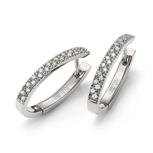 Mattioli Diamond Hoop Earrings