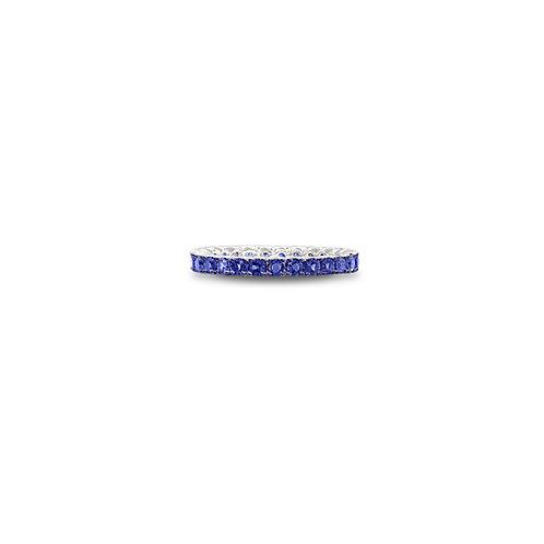 Spark blue sapphire eternity band
