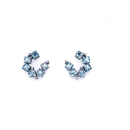 Suzanne Kalan Blue Topaz Earrings