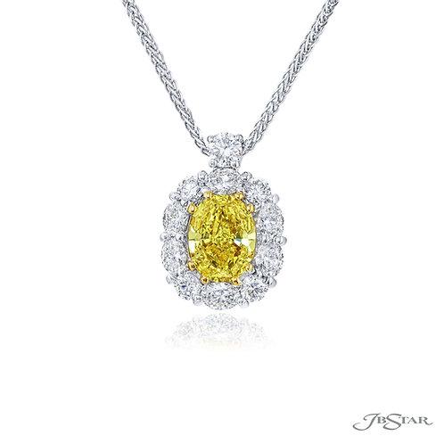 Fancy Yellow Diamond Pendant