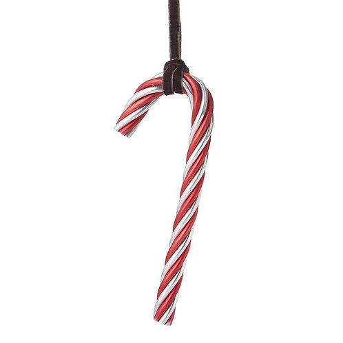 Michael Aram Twist Candy Cane Red & Silver Ornament