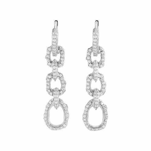 Michael Aram Diamond & Silver Earrings
