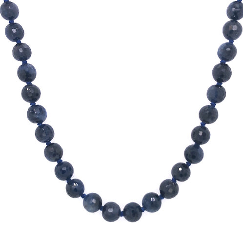 Sapphire Gemstone Bead Necklace